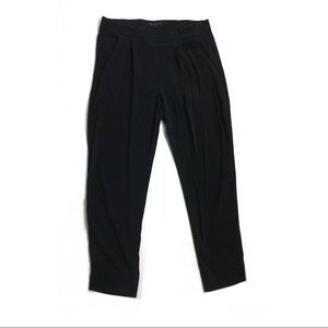 Theory 4 pants trousers ankle black silk career